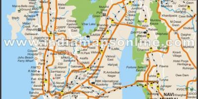 Mumbai bombay mapa mapas de mumbai bombay maharashtra india mapa de la ciudad de bombay gumiabroncs Gallery